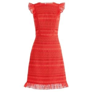 J. Crew Cap Sleeve Ruffle Lace Dress size 00